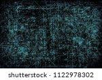 turquoise grunge background | Shutterstock . vector #1122978302
