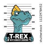 cool dinosaur vector design | Shutterstock .eps vector #1122978452