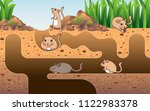 the rat hole in the grass hollow | Shutterstock .eps vector #1122983378