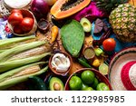 traditional mexican food ... | Shutterstock . vector #1122985985