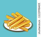 vector drawing of french fries | Shutterstock .eps vector #1122998405