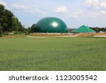 biogas production  anaerobic... | Shutterstock . vector #1123005542