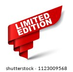 red vector banner limited... | Shutterstock .eps vector #1123009568