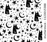 seamless hand drawn pattern.... | Shutterstock .eps vector #1123015388