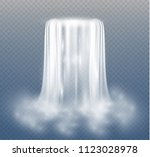 waterfall  isolated on... | Shutterstock .eps vector #1123028978
