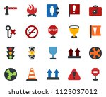 colored vector icon set  ... | Shutterstock .eps vector #1123037012