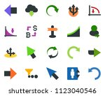 colored vector icon set  ... | Shutterstock .eps vector #1123040546