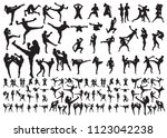 muay thai step | Shutterstock .eps vector #1123042238