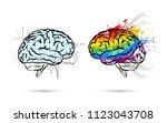 technical and art hemispheres... | Shutterstock .eps vector #1123043708