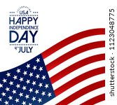 usa independence day design...   Shutterstock .eps vector #1123048775