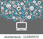 social network background of... | Shutterstock .eps vector #112305572