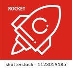 rocket vector icon  | Shutterstock .eps vector #1123059185