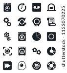 set of vector isolated black... | Shutterstock .eps vector #1123070225