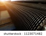 fins tube product | Shutterstock . vector #1123071482