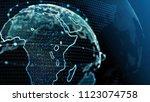 blue earth technology  business ... | Shutterstock . vector #1123074758