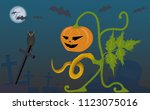 a picture to halloween with a...   Shutterstock .eps vector #1123075016