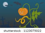 a picture to halloween with a...   Shutterstock .eps vector #1123075022