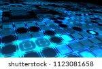 digital squares blue field.... | Shutterstock . vector #1123081658