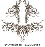 thicket design accents vector... | Shutterstock .eps vector #112308455