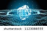 blue plexus fantasy abstract... | Shutterstock . vector #1123088555