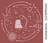 scientific  education elements. ... | Shutterstock .eps vector #1123090265