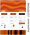dark orange vector design ui...
