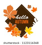 hello autumn. banners of autumn ... | Shutterstock .eps vector #1123116368