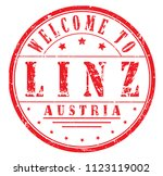 "rubber stamp ""welcome to linz ... 