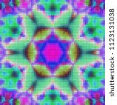 illustration of mosaic images ... | Shutterstock . vector #1123131038