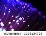 colored fiber optic abstract... | Shutterstock . vector #1123134728