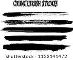 set of grunge brush strokes | Shutterstock .eps vector #1123141472
