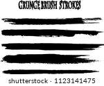 set of grunge brush strokes | Shutterstock .eps vector #1123141475