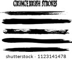 set of grunge brush strokes | Shutterstock .eps vector #1123141478