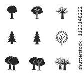 tree icon set. line style icon...