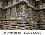 ornate bas relieif and... | Shutterstock . vector #1123152398