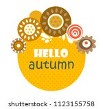 autumn banner. hello autumn.... | Shutterstock .eps vector #1123155758