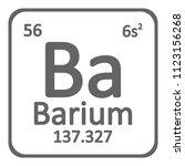 periodic table element barium...   Shutterstock .eps vector #1123156268