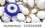evil turkish eye amulet ... | Shutterstock . vector #1123161038