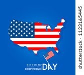 usa independence day design...   Shutterstock .eps vector #1123165445