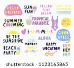 summer time lettering. people...   Shutterstock .eps vector #1123165865