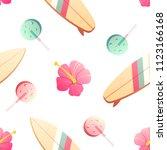 the 70's. hot summer seamless... | Shutterstock .eps vector #1123166168