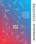 vector cover page layout.... | Shutterstock .eps vector #1123172765