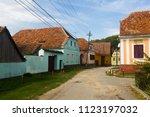 rural landscape of village in...   Shutterstock . vector #1123197032