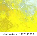 abstract painting on canvas.... | Shutterstock . vector #1123199255