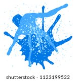 illustration of colorful... | Shutterstock . vector #1123199522