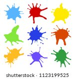 illustration of colorful... | Shutterstock . vector #1123199525