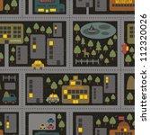 cartoon map seamless pattern of ... | Shutterstock .eps vector #112320026