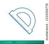 accurate tool icon vector logo...   Shutterstock .eps vector #1123204778
