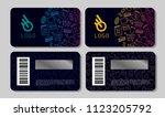 scratch cards templates for... | Shutterstock .eps vector #1123205792