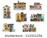 mexico city facades   cartoon   ... | Shutterstock .eps vector #112321256